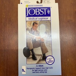 JOBST for Men Compression Socks Brown Small Knee
